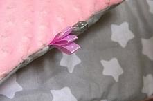 Kocyk minky w gwiazdki Na zamówienie - kolory, materiały i wymiary do wyboru :)