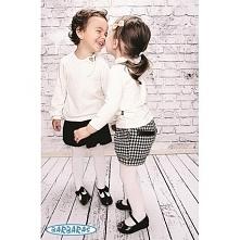 """Elegancka plisowana spódniczka dla dziewczynki z najnowszej kolekcji BARBARAS """"Pepit""""."""
