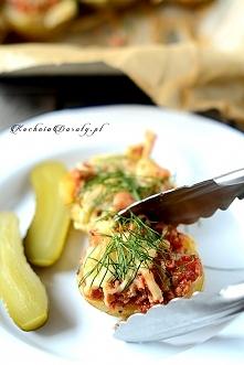 Pyszne Pieczone Ziemniaki Faszerowane. Doskonały pomysł na obiad lub ciepłą k...