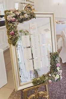 Plan stołów na lustrze:)