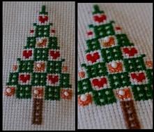 Choinka - haft krzyżykowy