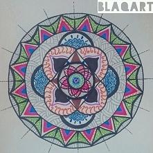 Moja pierwsza mandala wykonana markerami z Ikei. Pomysł 100% mój ^.^ Chcecie pooglądać więcej moich prac? Wpadajcie na blaqart.blogspot.com