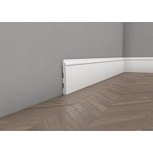 Biała listwa przypodłogowa nowoczesna z klasycznym wykończeniem. Dzięki temu można ją zastosować w wielu rodzajach aranżacji pomieszczenia. Pokryta warstwą podkładową znacvznie ...