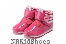 Brand: adidas  Name: TRAINING KIDS  Product No: G96034  Color: Explosive powder / bright white / clear light powder  Size: 4K-9.5K  Upper: Synthetic leather and fabric mixed sur...