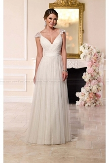 Stella York French Tulle & Lace Wedding Dress Style 6199