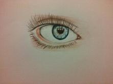 Rysunek oka. Mój rysunek.