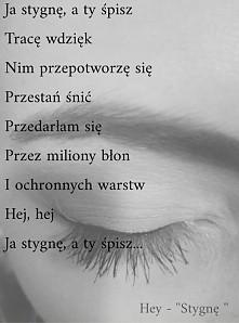 Hey - ''Stygnę ''
