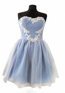 Niebieska sukienka DIY, mój...
