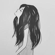 Mój pierwszy szkic profilu, chyba nie jest aż tak źle ♥ Beth Crowley - Warrior ♥