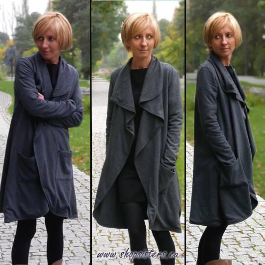 Dresowy płaszczyk VENTO - rozmiar S/M/L - tylko od SISTERS :)