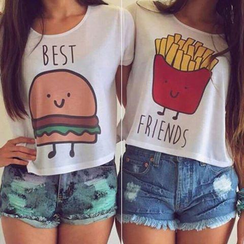 Best friends, świetne koszulki dla przyjaciółek :)