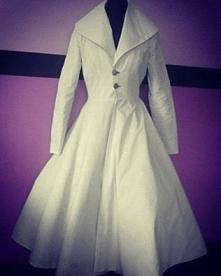 płaszcz ladyardzesz corset płaszcz z orginalnego wykroju z lat 50