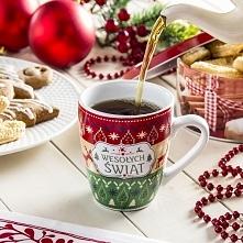 Kubek ceramiczny świąteczny z napisem WESOŁYCH ŚWIĄT- RENIFER 290 ml