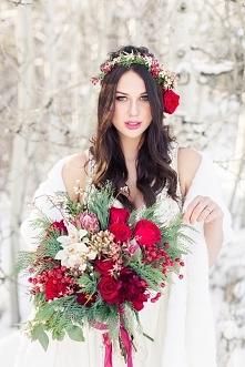 Zimowa inspiracja ślubna
