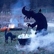 Dekoracje na Halloween - wiedźma z kotem! Zapraszam do wpisu na blogu Pani Dyrektor po pozostałe pomysły!