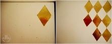 Złote romby na szafie