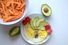 Zdrowe białkowo-tłuszczowe śniadanko !! Prostota najlepsza ! :)