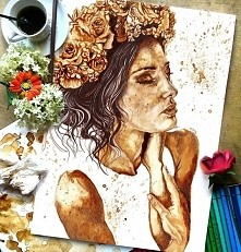 Stunning Coffee Painting by...