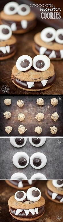 Chocolate Monster Cookies!