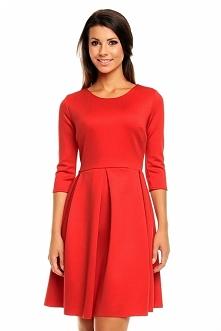 Dzianinowa czerwona sukienk...