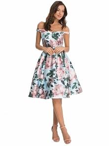 Sukienka w kwiaty na wesele...