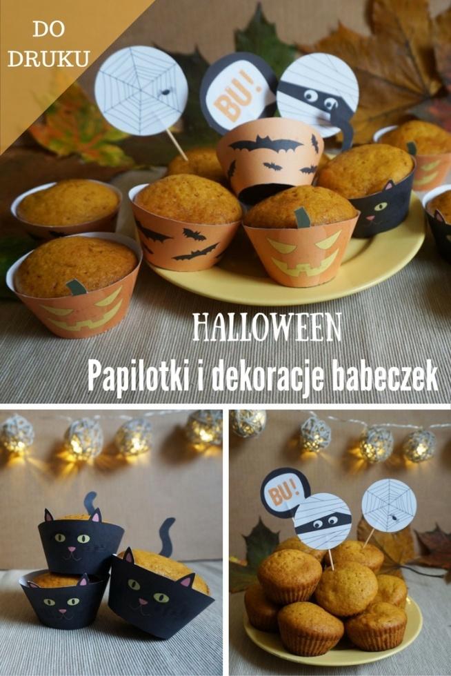 Za darmo do druku!  Toppersy i papilotki do babeczek idealne na Halloween :) + przepis na babeczki dyniowe :)