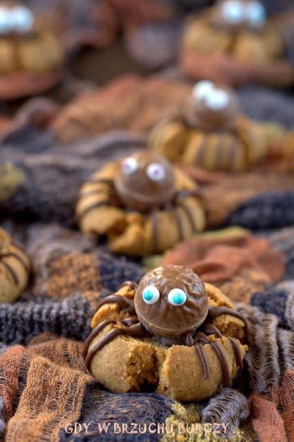 Orzechowe ciastka pająki