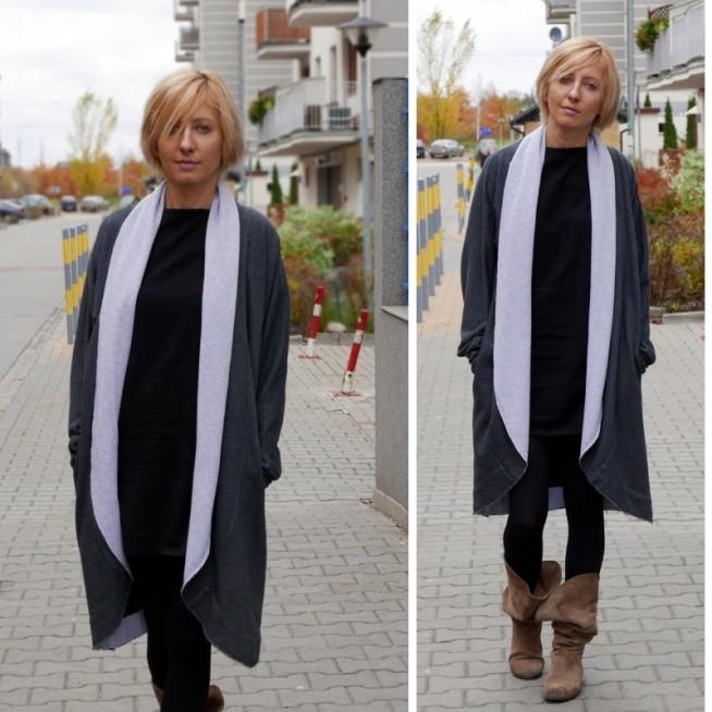 Wygodny dresowy sweter i płaszcz SISSI w jednym (2w1) wykonany z najwyższej jakości dzianiny dresowej z długimi rękawami.  Doskonały dla każdej z nas niezależnie od typu urody, czy sylwetki.  Różne kolory i jeden rozmiar.  Polski producent Sisters - oficjalna strona shopsisters.eu