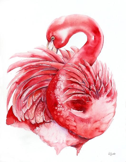Flaming różowy - plakat, reprodukcja 30x40