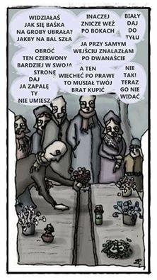 Dziś na większości cmentarzy :D