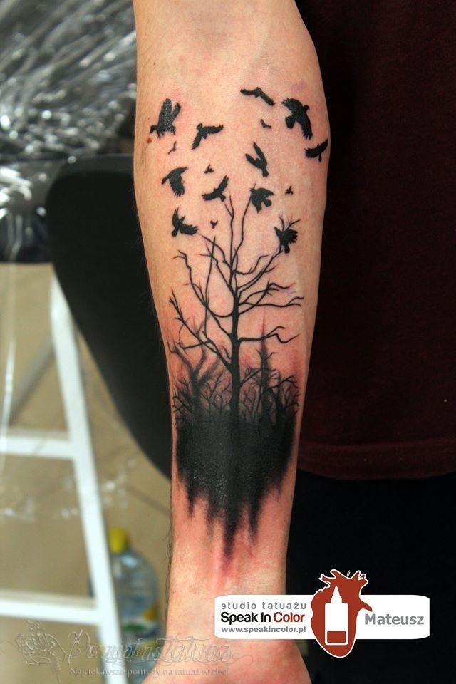 Tatuaż Drzewo Na Tattoo Zszywkapl