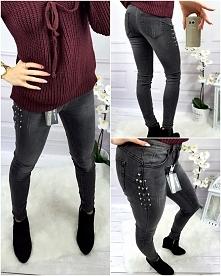 Czarne jeansy ćwieki Wszystkie modele dostępne na  modneska.pl
