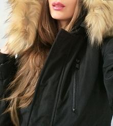 Kurtka Damska Ocieplana Kaptur Futerk0 Jenot Prosta Hit Najnowszy Model na Wiosnę Jesień Zimę 2016/2017 #119 Promocja FashionAvenue.PL