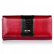 Czerwony tani portfel z supergalanteria.pl co o nim sądzicie? Połączenie czerwieni i z czernią super razem wygląda.