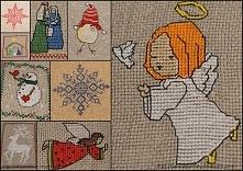 Haft krzyżykowy - świątecznie