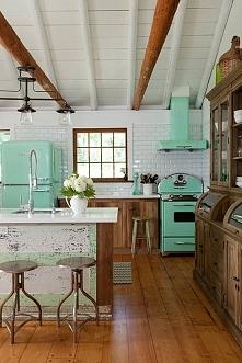 kuchnia w stylu retro ...