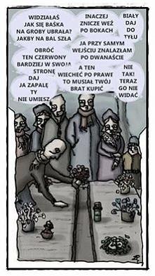 Dziś na większości cmentarz...