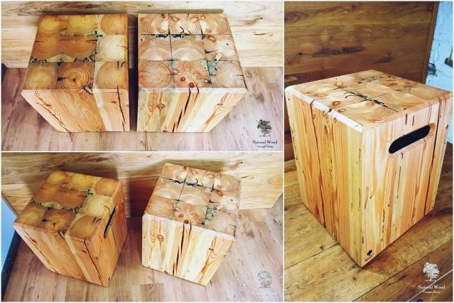 Stołki ze 100-letniej sosny