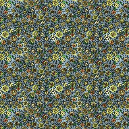 Bawełniana tkanina Witraż Kwiatowy (kliknij, żeby kupić)