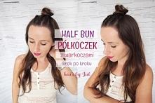 Szybka fryzura krok po kroku. Zobacz jak zrobić half bun czyli półkoczek!