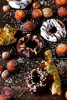 Jesienne donuty - Wypieki Beaty