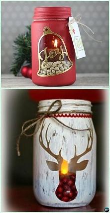 Świąteczne świeczniki :)