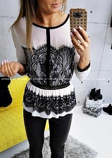 elegance KORONKA w stylu CHLOE , BLACK & WHITE exclusive ,