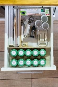 organizacja szuflady. Etykiety na przyprawy do pobrania