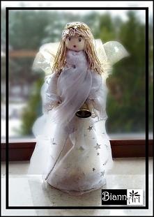 Aniołek z tkaniny - dekoracje na Boże Narodzenie