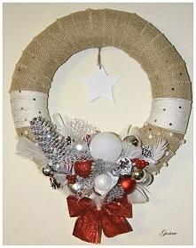 Wieniec świąteczny mojego wykonania oraz pomysłu;-) Do nabycia.  patrycjagustaw@onet.pl