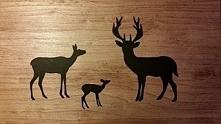 stolik kawowy z grafiką Bambi Black drewniany