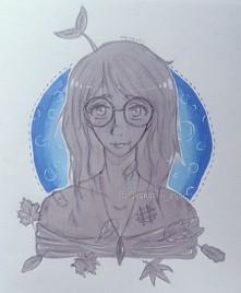 Kolejny rysek ( ´ ▽ ` )ノ kreskę ciągle zmieniam bo mi się nie podoba c: mam z...