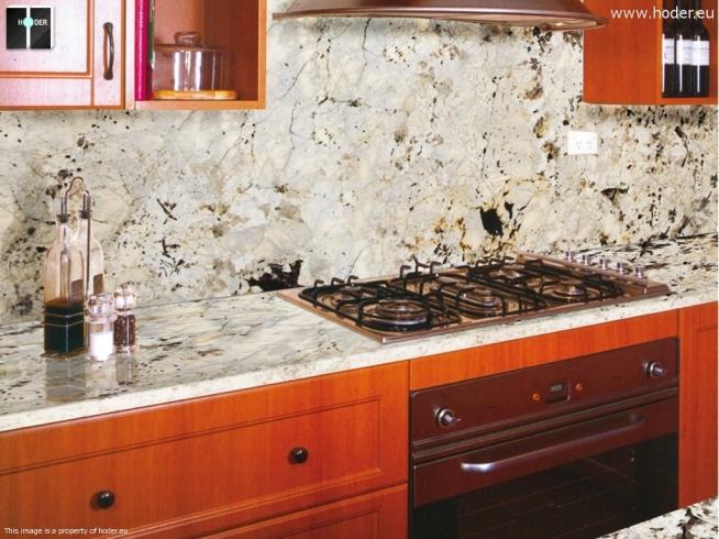 Hoder blat kuchenny - aranżacja kuchni z blatem z kamienia