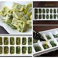 świeże zioła w oliwie